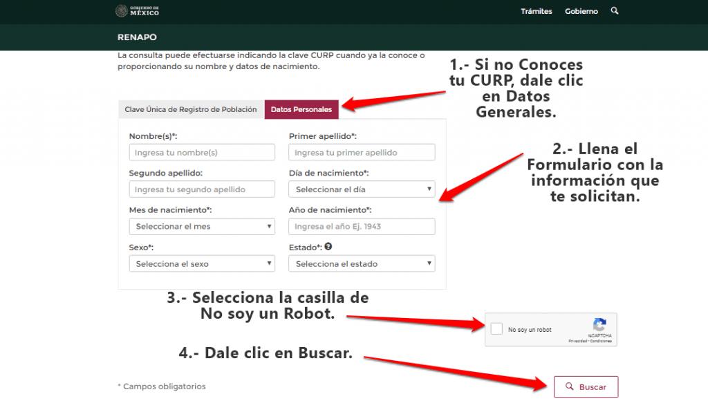 Como Consultar CURP