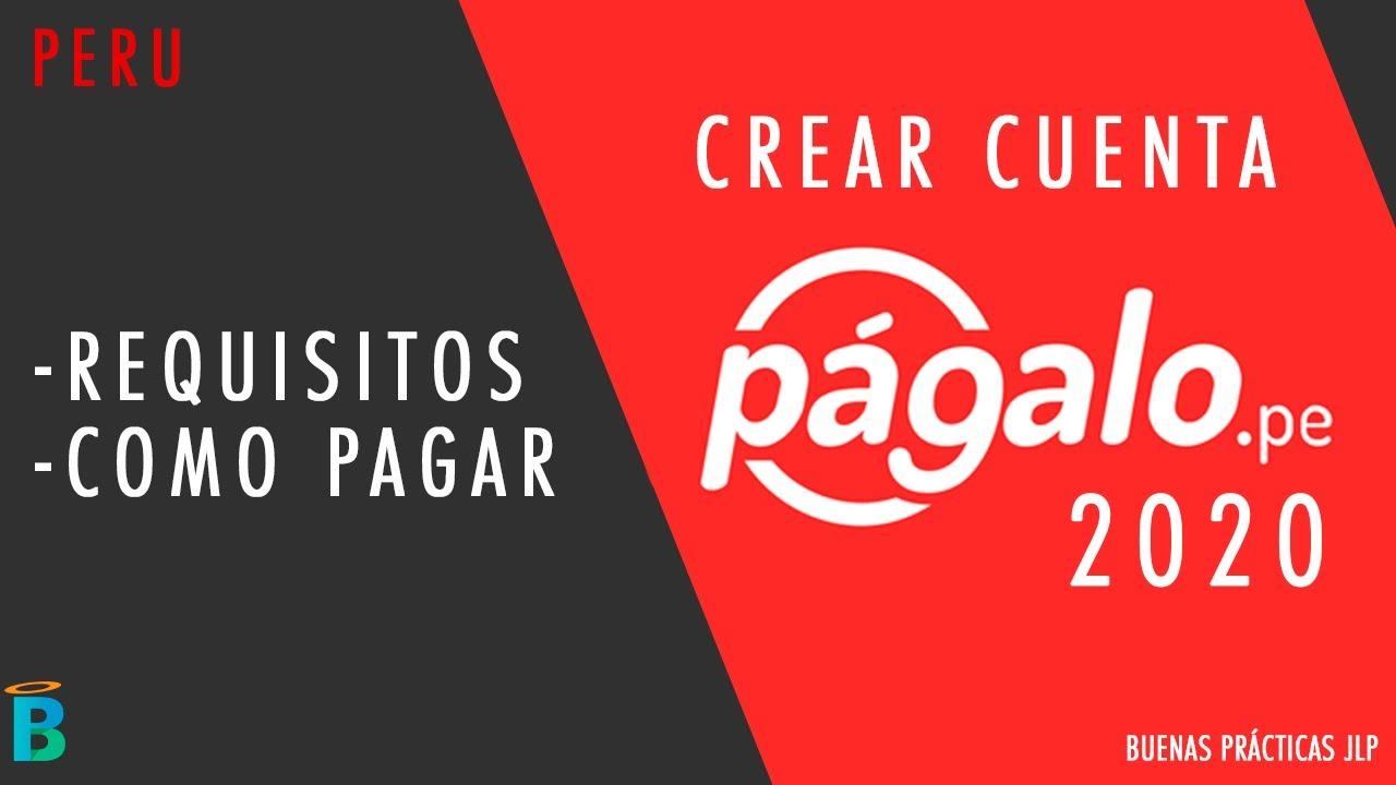 Crear cuenta en Pagalo.pe 2020: Requisitos y como pagar - YouTube