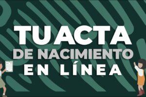 Acta de nacimiento en línea en México